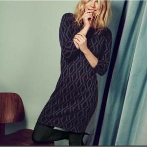 Boden Tunic Dress Knit Geometric Print